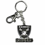 Oakland Raiders Zamac Metal Logo Key Tag
