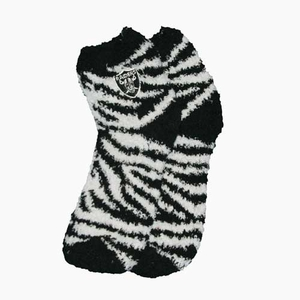 Oakland Raiders Zebra Stripe Sock - Click to enlarge