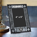 Oakland Raiders Art Glass Frame