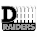 Raiders D-Fence Lapel Pin