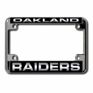 Oakland Raiders Laser Motorcycle Frame - Click to enlarge