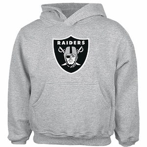 Oakland Raiders Youth Steel Logo Hoodie - Click to enlarge