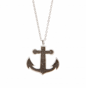Anchor Necklace - silver plated