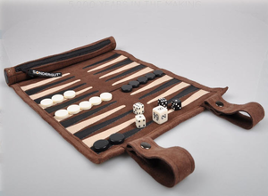 Roll-up Travel Backgammon Set - Click to enlarge