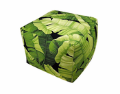 Banana Leaf Square Pouf