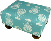 Blue Lobster Footstool