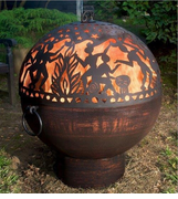Fire Bowl with Full Moon Party FireDome