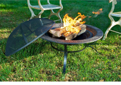 Fire Pit with Mayan Design