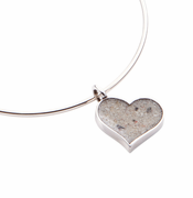 Heart of Sand Bangle - Sterling