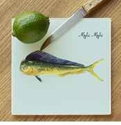 Mahi Mahi Glass Cutting Board