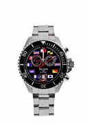 Men's 200M Analog Tide Watch with Black Dial
