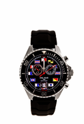 Men's 200M Swiss Movement Black Nautical Tide Watch