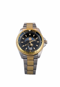 Men's Two Tone Black Dial Nautical Analog Tide Watch
