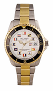 Men's Two Tone Classic Nautical Flag Watch