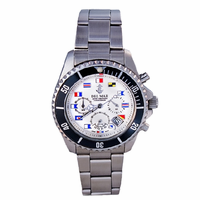 Men's White Dial Nautical Flag Chronograph Watch