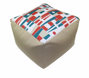 Nautical Flag Square Pouf
