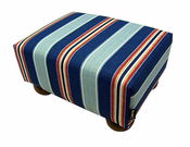 Nautical Stripe Footstool