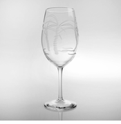 Palm Tree AP Wine Glasses<br> Set of 4