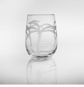 Palm Tree Stemless Wine<br> Set of 4