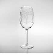 Palm Tree White Wine Goblets<br>Set of 4
