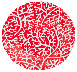 Red Coral Melamine Dinnerware - Click to enlarge