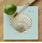 Scallop  Shell Glass Cutting Board