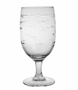School of Fish Footed Iced Tea Glasses<br>Set of 4