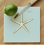 Sea Star Glass Cutting Board