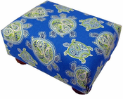 Sea Turtles Blue Footstool