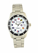 Stainless Steel Classic Nautical Flag Watch