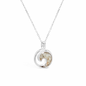 Sterling Wave Necklace - Click to enlarge