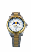 Two Tone White Nautical Analog Tide Watch