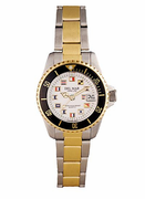 Women's Two  Tone Classic Nautical Flag Watch