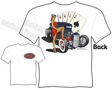 1928 1929 Pin Up Hot Rods 28 29 Ford Coupe Pinup Girl T Shirt