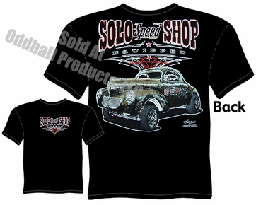 1940 Willys Racing T Shirts Solo Speed Shop 40 Willys Gasser T Shirt