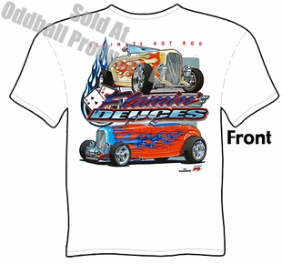 32 Ford Hot Rod Tee Shirt Flamin' Deuces 1932 Roadster T Shirt