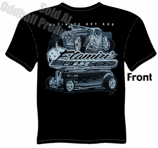 32 Ford Hot Rod Tshirt 1932 Roadster Flamin' Deuces T Shirt