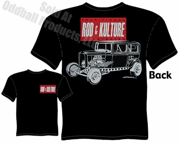 32 Ford Vintage Drag Racing Shirts 1932 Sedan Rod & Kulture Gasser T Shirt