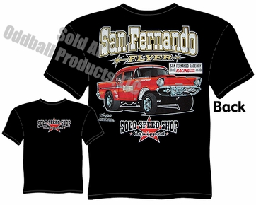 57 Chevrolet Speed T Shirt 1957 Chevy Gasser Solo Speed Shop T Shirt