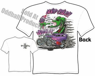 Big Daddy Clothing Ed Roth Shirt 32 Ford Sedan Wild Child Rat Fink T Shirt