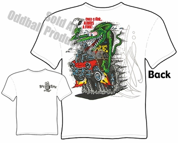 Big Daddy T 51 Ford Woody Rat Fink Shirt Once A Fink Rat Fink T Shirt