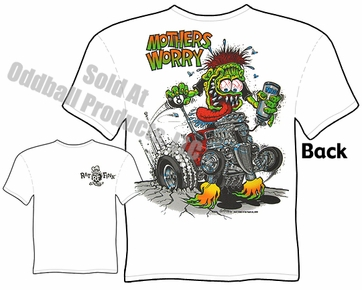 Big Daddy T Shirts Ed Roth Tshirt Ford Coupe Mothers Worry Rat Fink T Shirt