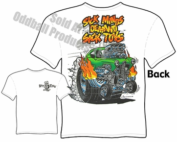Ed Roth Rat Fink Big Daddy T Shirt Sick Minds Demand Sick Toys Rat Fink T Shirt