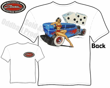 Hot Rods - 1932 Tudor Sedan Pinup Girl T-shirt