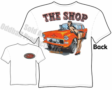 Hot Rods - 1955 Chevy Gasser Pinup Girl T-shirt