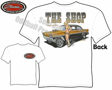 Hot Rods - 1956 Chevy Gasser Pinup Girl T-shirt