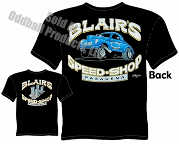 Hot Rods - Blair's Speed Shop 1940 Willys T-shirt