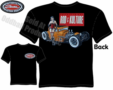 Hot Rods - Rod & Kulture 1930 1931 Coupe Pinup Black T-shirt