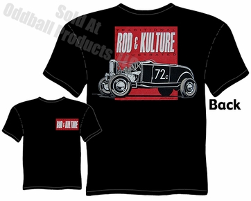Hot Rods - Rod & Kulture Bonneville 32 Roadster Black T-shirt