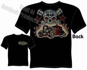Hot Rods - Skull & Pistons 30 31 Ford T-shirt